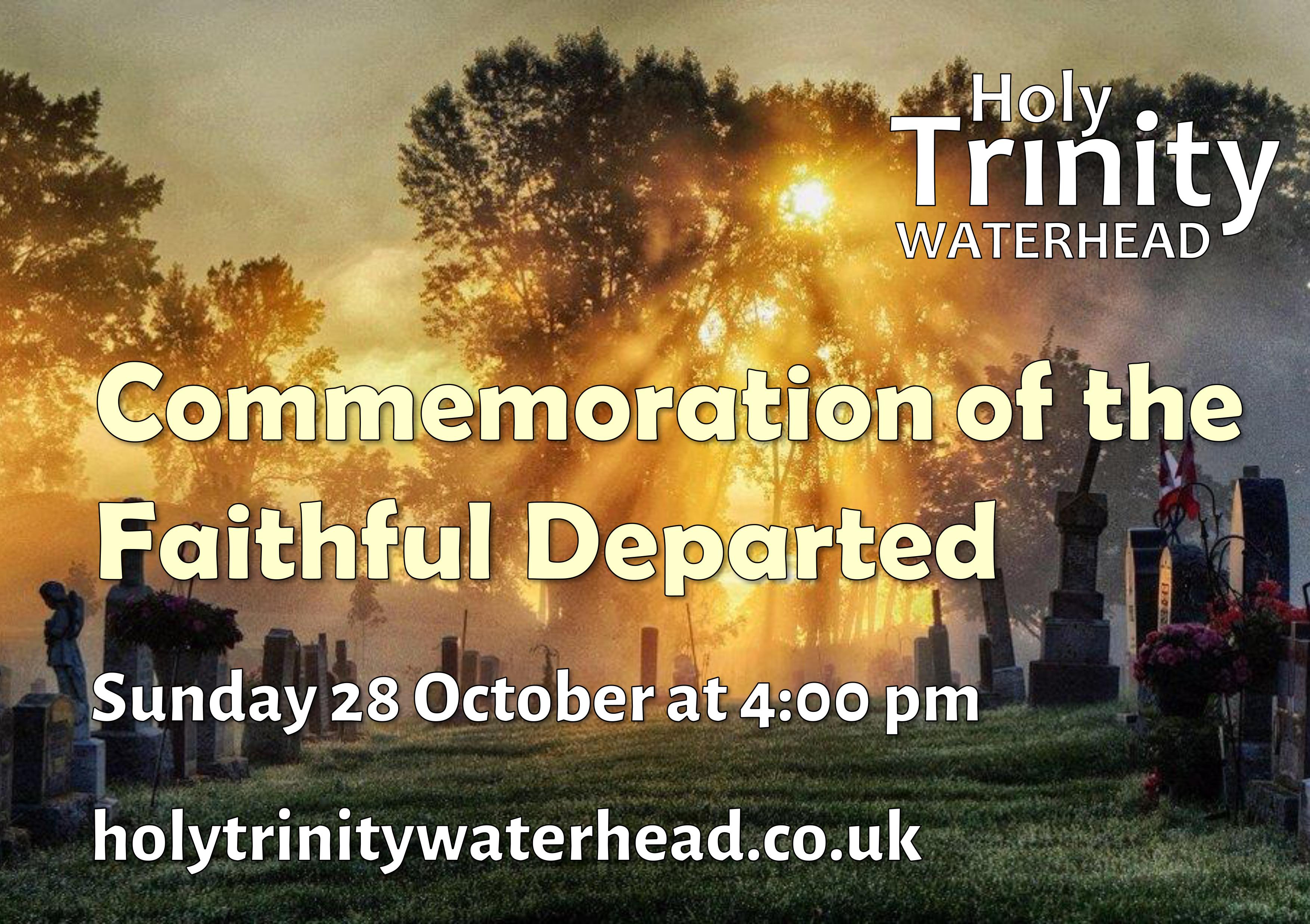 All Souls Day Holy Trinity Church Waterhead Oldham