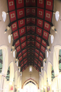 Holy Trinity Church, Waterhead - Church Interior - Roof of Nave - Modern Day