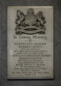 Holy Trinity Church, Waterhead - Furnishings - Harries Memorial