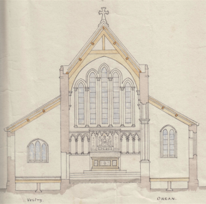 Holy Trinity Church, Waterhead - Gouldie French Church Plans - Looking East