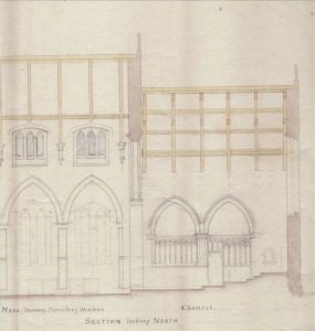 Holy Trinity Church, Waterhead - Gouldie French Church Plans - Looking North