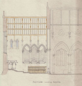 Holy Trinity Church, Waterhead - Gouldie French Church Plans - Looking South