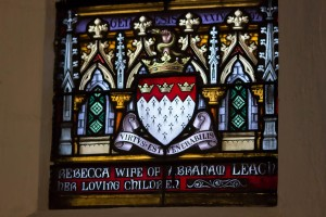 Holy Trinity Church, Waterhead - Leach window coat of arms