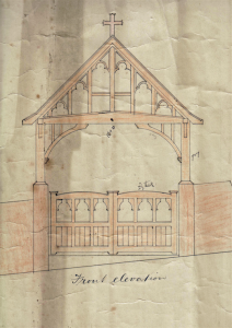 Holy Trinity Church, Waterhead - Lych Gate - Plan