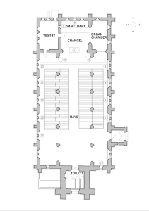 Holy Trinity Church, Waterhead - Plan of Church