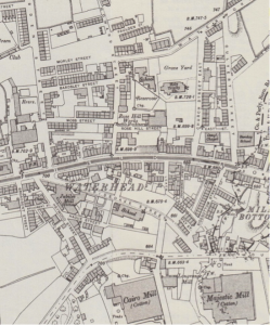 A map of Waterhead village in 1907.